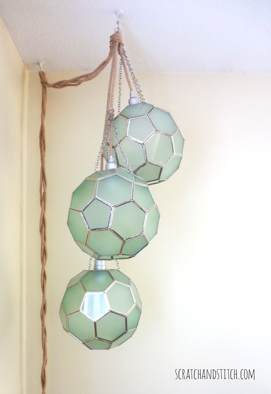 Honeycomb Pendant Light - scratchandstitch.com