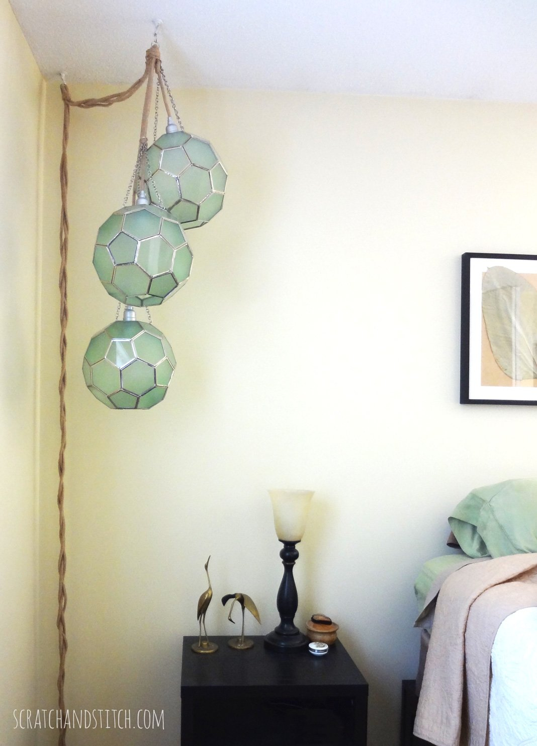 Triple Pendant Light DIY - scratchandstitch.com