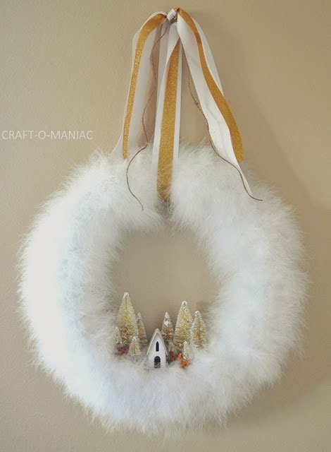 DIY Winter Wonderland Wreath