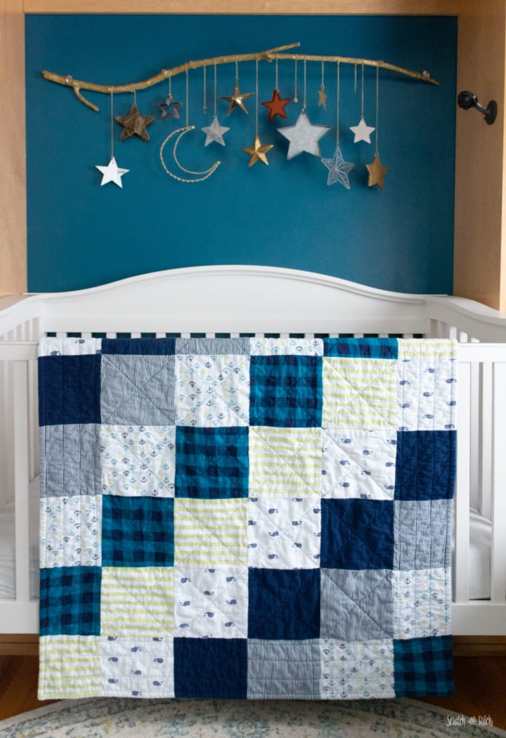 Simple Upcycled Receiving Blanket Quilt
