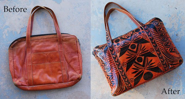 Tribal Painted Bag Makeover
