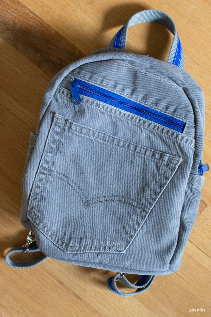 DIY Small Denim Backpack | Scratch and Stitch