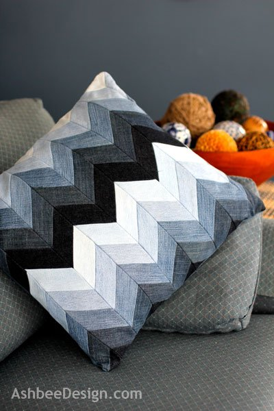 DIY Denim Throw Pillow