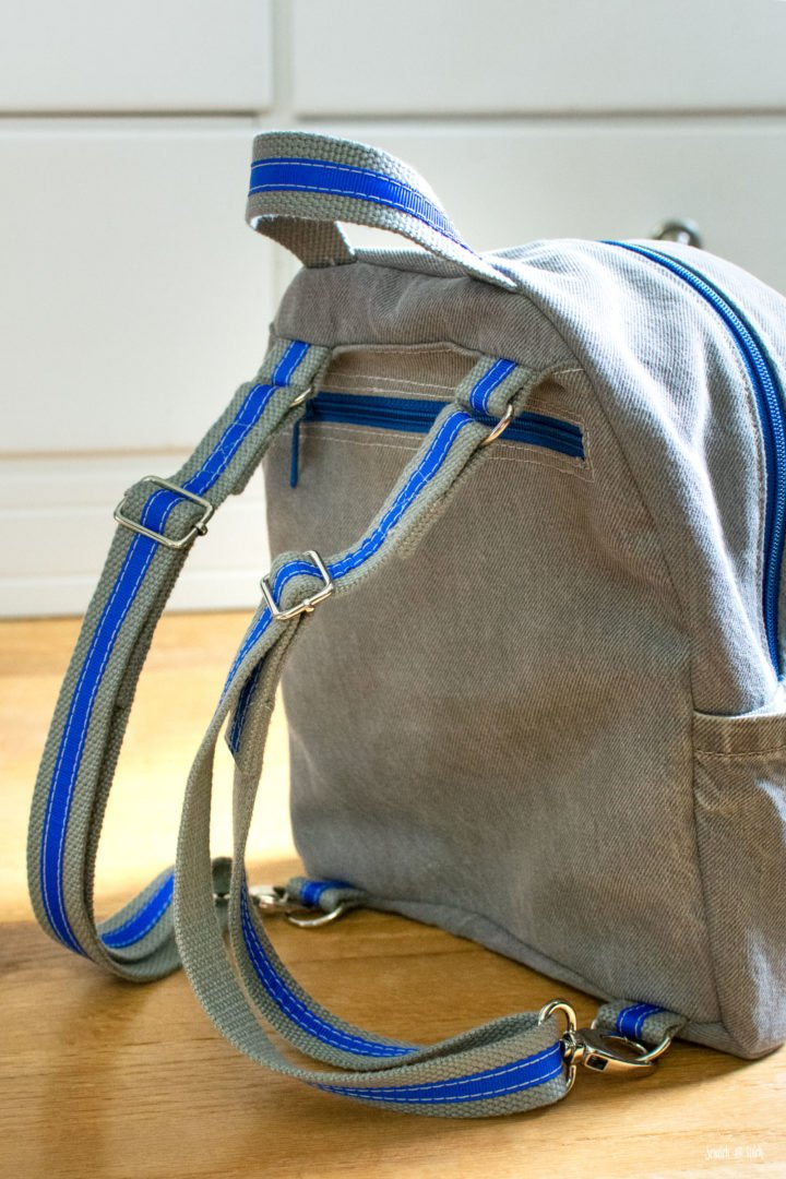 Upcycled Denim Small Backpack | Scratch and Stitch