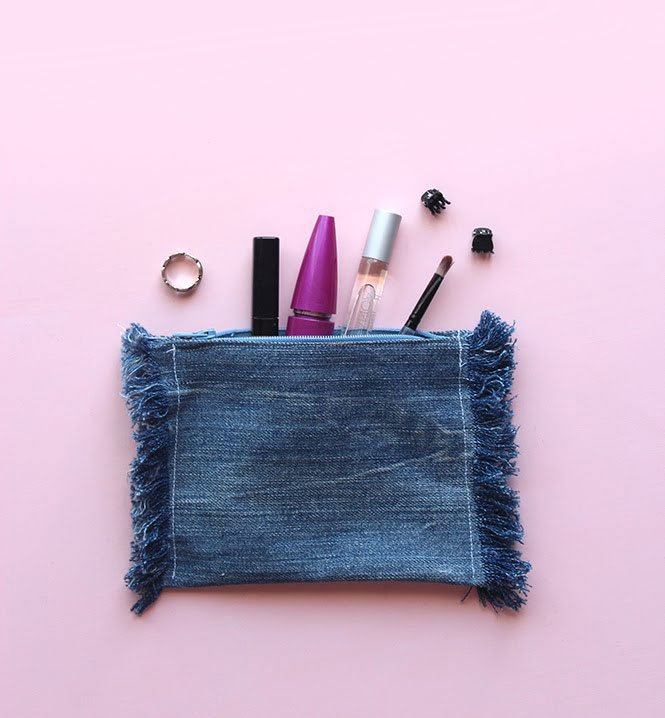 Upcycling Idea - DIY Denim Pouch