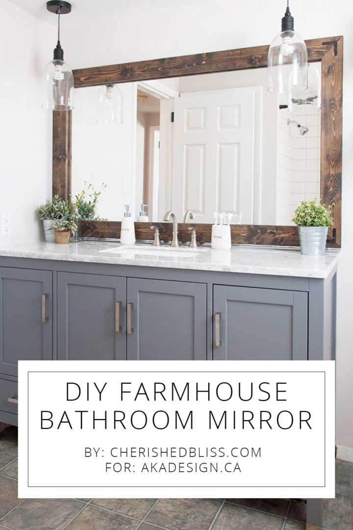 DIY Farmhouse Mirror