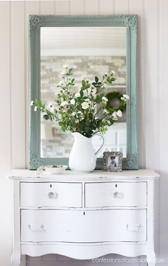 DIY Mirror Makeover with Paint