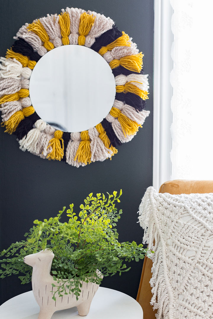 Easy Tassled DIY Mirror Frame