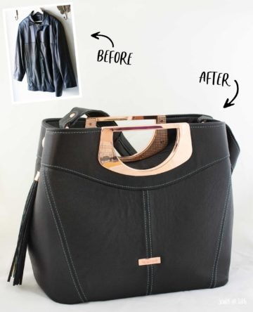 Leather Jacket Refashion/Upcycle to Leather Bag